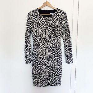 Belle Badgley Mischka long sleeve knit dress 8